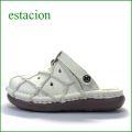 エスタシオン靴  estacion  et251iv アイボリー 【単色アイボリー登場!可愛いパッチワーク。。エスタシオン 穴穴サボ】