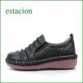 エスタシオン靴  estacion  et25bl ブラック 【シンプルカラーで登場!可愛いしましま。。エスタシオン靴・・サイドゴアスリッポン】