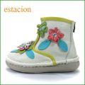 エスタシオン靴  estacion  et271iv アイボリー 【フワッと感じるオザブ・クッション! エスタシオン・・お花畑のかわいいアンクル】