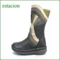 エスタシオン靴  estacion  et35bl ブラックマルチ 【ちょっと長めで初登場!!さえてる 新鮮色達。。。エスタシオン・・かわいいハーフブーツ】
