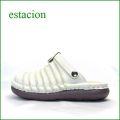 エスタシオン靴  estacion  et36iv アイボリー 【足の裏が気持ちいい・ふわふわクッション~エスタシオン靴・ 可愛い しましまサボ】