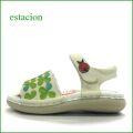 エスタシオン靴  estacion  et387iv アイボリー 【テントウ虫とクローバー・・ 靴ずれしないかかとパッド~エスタシオン靴・ サンダル】