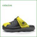 エスタシオン靴  estacion  et391bl ブラック 【星に願いをこめて・・ふわふわクッション~エスタシオン靴・ ぷっくり星のサボ サンダル ☆☆★】