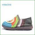 エスタシオン靴 estacion et43bu  ブルーマルチ 【楽な厚めクッション。どんどん歩こう。。エスタシオン靴・・カワイイぐるぐるスリッポン】