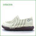 エスタシオン靴 estacion et43ivo  アイボリー 【楽な厚めクッション。どんどん歩こう。。エスタシオン靴・・カワイイぐるぐるスリッポン】