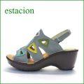 エスタシオン靴  estacion  et503gy  グレイ 【△三角窓で可愛さ満点。。。△新型▽ソール△ エスタシオン靴・・・フワッと気持いいサンダル】