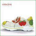 エスタシオン靴 estacion et521iv  アイボリー 【オレンジ・リンゴ・パイナップル・・気持いい厚めクッション。エスタシオン靴・フルーツのスニーカー】