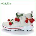 エスタシオン靴 estacion et528iv  アイボリー 【可愛いユラユラ さくらんぼ。土ふまずが気持いい。。エスタシオン靴・・サイドゴア・スニーカー】