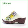 エスタシオン靴  estacion  et612iv アイボリー 【可愛さ満開。。わくわく元気な。。エスタシオン靴・・・お花畑のカラフルミュール】