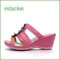 エスタシオン靴  estacion  et84pk  ピンク 【可愛さ満開。。わくわく元気な。。エスタシオン靴・・・お花畑のカラフルミュール】