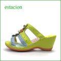 エスタシオン靴  estacion  et84ye  イエロー 【可愛さ満開。。わくわく元気な。。エスタシオン靴・・・お花畑のカラフルミュール】