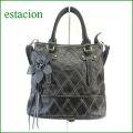 estacion バッグ エスタシオン鞄 etb532bl ブラック 【ワクワクしちゃう!可愛い。色。色。色々。。エスタシオン鞄 タップリ入る・元気なバッグ】