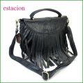 estacion バッグ エスタシオン鞄 etb856bl ブラック 【ワクワクしちゃう!可愛い。色。色。色々。。エスタシオン鞄 タップリ入る・元気なバッグ】