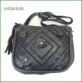 エスタシオン バッグ  estacion  Bag etb9230bl ブラック 【可愛いお花のモチーフ。たっぷり入る。。エスタシオン お花の バッグ】