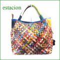 estacion bag エスタシオン バッグ etb9299mt マルチ 【ワクワクしちゃう!可愛い。色。色。色々。。エスタシオン鞄 タップリ入る・メッシュのバッグ】