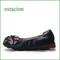 エスタシオン靴  estacion etn13682nv ネイビー 【 ボリューム満点!可愛いリボン小花・・・ エスタシオン。 フィットするくねくねソール】