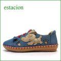 エスタシオン靴  estacion etn201bu ブルー 【可愛さ満点。。。クニュッと曲がるソール・・・エスタシオン..わんわんスリッポン】