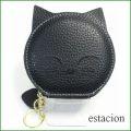 estacion エスタシオン コインケース etw1009bl ブラック 【可愛い黒ネコちゃん・・・チャームにもなる。エスタシオン コインケース】