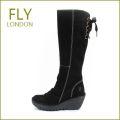 FLY LONDON YUST  フライロンドン ヨスト fy327006bl  ブラック 【フライの大本命・リボン・ロングブーツ・・FLY LONDON YUST・・足を包む最高の履き心地】【レディース】