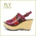 FLY LONDON フライロンドン fy642wi  ワインマルチ 【ボリュームたっぷり・・可愛い厚底コルク・・FLY LONDON・・足を包む最高の履き心地】【レディース】
