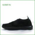 Gomu56  ゴムゴム gm5121bl  ブラック  【ルームシューズみたいにリラックス! 締め付け感がない靴・・ Gomu56  水玉模様のスリッポン】
