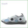 Gomu56  ゴムゴム gm5121gy   グレイ   【ルームシューズみたいにリラックス! 締め付け感がない靴・・ Gomu56  水玉模様のスリッポン】