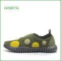 Gomu56  ゴムゴム gm5121ka   カーキ―   【ルームシューズみたいにリラックス! 締め付け感がない靴・・ Gomu56  水玉模様のスリッポン】