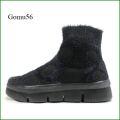 Gomu56  ゴムゴム gm5546bl  ブラック  【ルームシューズみたいにリラックス! 締め付け感がない靴・・ Gomu56  水玉模様ハイカット】