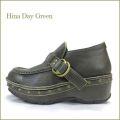 hina day green ヒナデイグリン hi6033ka  カーキ―  【可愛いボリュームソールに・アンティークな押しピンでもっと可愛い・hina モンクストラップ】