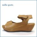 milla sports   ミラスポーツ  mi6352br  ブラウン 【シンプルがオシャレ・・マジックでフィット・milla sports・厚底サンダル】