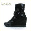 maimai マイマイ mm01bl ブラック 【もっとかっこいいのが好き。。暖かムートン・・maimai かわいいヒールアップスニーカー】