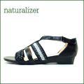 naturalizer ナチュラライザー n572bl ブラック 【横巾がのびる楽々・・・ストレッチ巾広サンダル】
