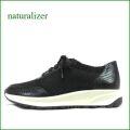 naturalizer  ナチュラライザー na654bl  ブラック 【履いた瞬間リラックス。。気持ちいい厚めのクッション!naturalizer ストレッチスニーカー】