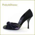 pinky & dianne ピンキ—&ダイアン pi18blpl  ブラックパープル  【上品コンビカラーと・・きれいなサイドカット・・pinky & dianne ハイヒールパンプス】