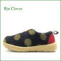 Rin Clover  リンクローバー rc421nv   ネイビー 【ルームシューズみたいにリラックス! かわいいモコモコ素材・・ Rin Clover  水玉模様のスリッポン】