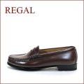 REGAL リーガル  re2414br ブラウン  【履きやすくて丈夫な・・標準ウィズ 2E(EE)・・・REGAL 手縫いのモカシン・ローファー】