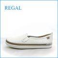REGAL リーガル re31wt ホワイト  【人気のスニ―カ―スタイル・・・すっきり可愛い・・REGAL・スリッポン】