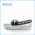 REGAL リーガル re33iv アイボリー  【すっきり可愛い・白と紺・・・REGAL・デッキシューズ】