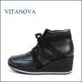 vita nova ビタノバ vt6868bl ブラック 【どんどん歩ける 軽量ソール。いい革してる高級素材・・ビタノバ 厚底スニーカー】