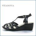 vita nova  ビタノバ   vt9625gy グレイ 【柔らかソールで快適・・すっきりエナメル素材。。vitanova サンダル】