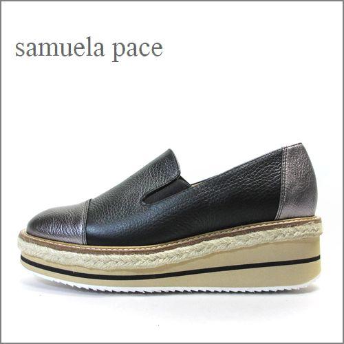 samuela pace サムエラペース sp3230bl  ブラック 【包みこむ柔らかレザー・・人気の楽らくスニ—カーソール・・samuela pace・・スリッポン】