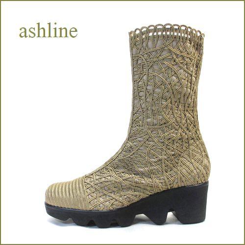 ashline  アシュライン  as12250ok  オ―ク 【おしゃれ度アップする・・手仕事の高級コードレース素材。。 ashline ショートブーツ】 【 復刻・限定生産品 】