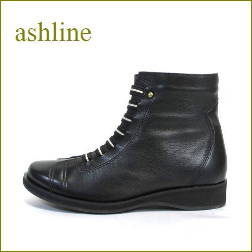 ashline アシュライン as1900bl ブラック 【かたちの良いすっきりスタイル・・ashline・・レースアップ・・ほっとする履き心地・・ 】