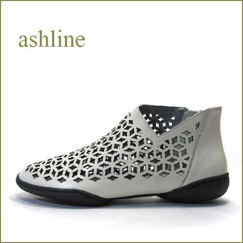 ashline アシュライン as3161bg ベージュ 【ソックスでアレンジ。。新鮮・お花模様のパンチング。。ashline・・ピタッとするブ—ティー】