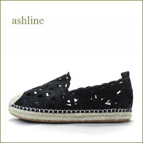 ashline  アシュライン  as7111bl  ブラック 【上品おしゃれな・・ししゅう&ダイヤグラムカット。。 ashline フィットするエスパドリュー】
