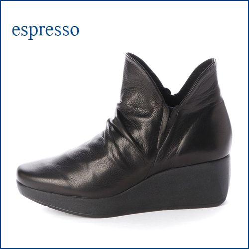 espresso  エスプレッソ  ep815bk  ブラック 【新鮮オシャレ素材・・フィットする柔らかなレザー・・espresso 厚底ブーティー】