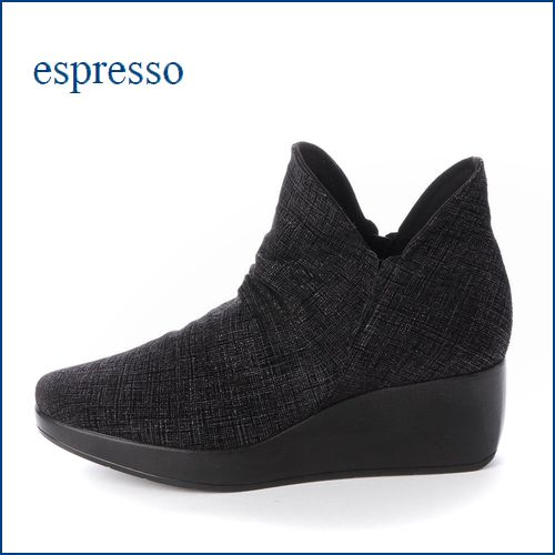 espresso  エスプレッソ  ep815bl  ブラックP 【新鮮オシャレ素材・・フィットする柔らかなレザー・・espresso 厚底ブーティー】