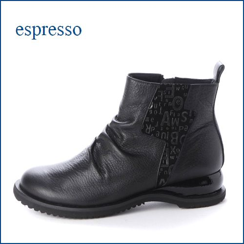 espresso  エスプレッソ  ep2214bl  ブラック 【新鮮・大きめのアウトソール・・・かわいいラウンドトゥ・・espresso ショートブーツ】