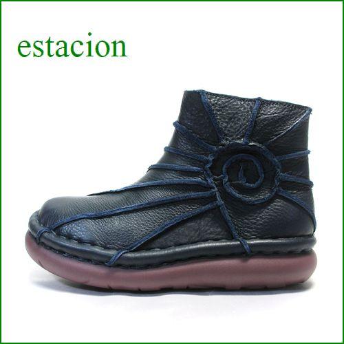 estacion  エスタシオン靴  et114nv ネイビー 【色の宝石箱・・・エスタシオン靴 すごく可愛い ぐるぐるアンクル】