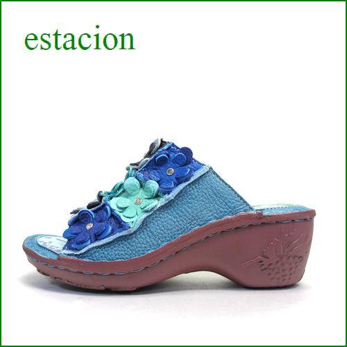 estacion  エスタシオン  et612bu  ブルー 【可愛さ満開。。わくわく元気な。。エスタシオン靴・・・お花畑のカラフルミュール】